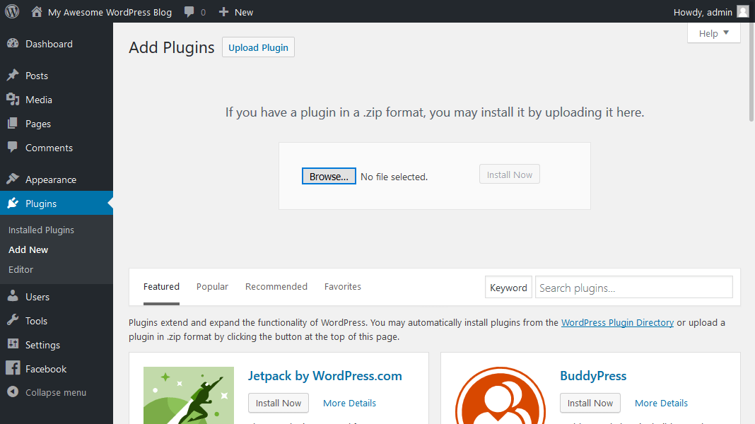 WordPress Plugins Manual Install